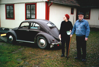 Original Owners with thier 1951 Bug in Sweeden..
