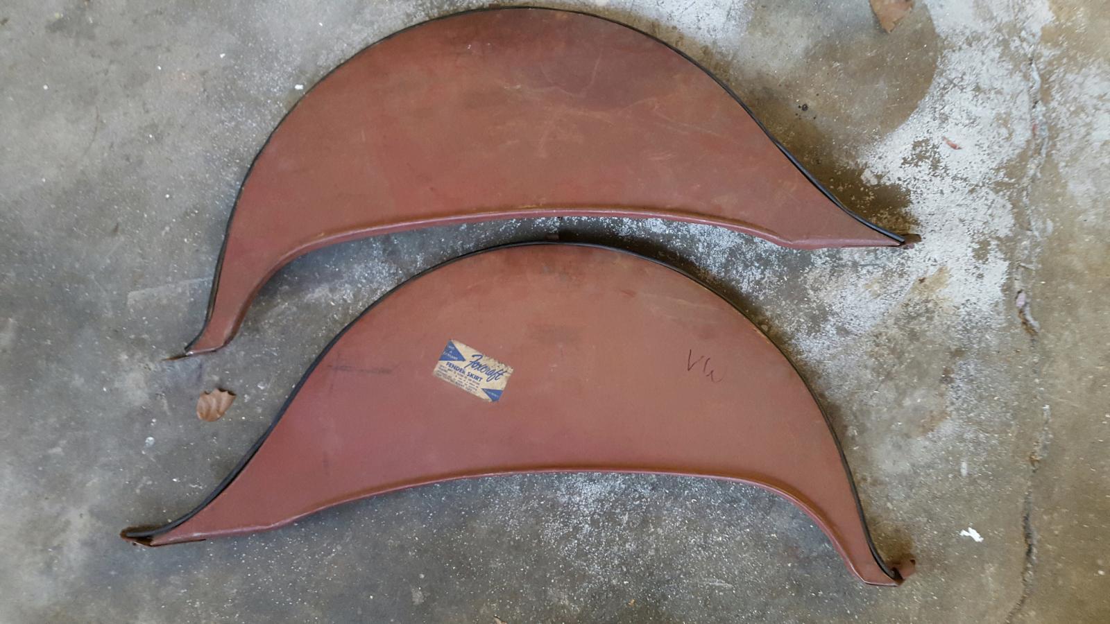 NOS Foxcraft Fender Skirts - rare originals