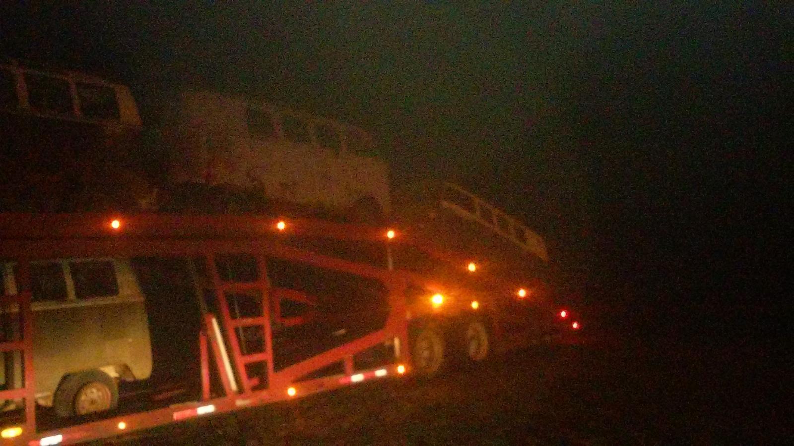 Truck loads of vw busses leaving