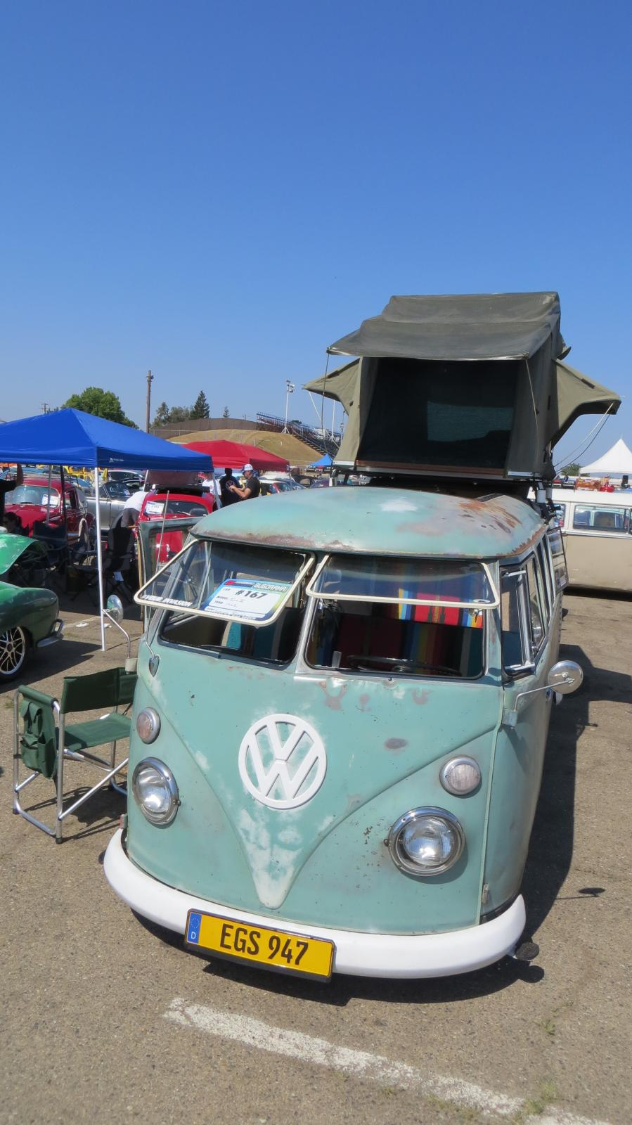 '62 Bus with nice (modern? New?) roof tent
