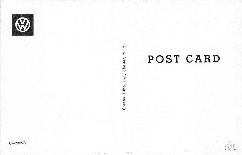 1960 L87 deluxe 23 window post card