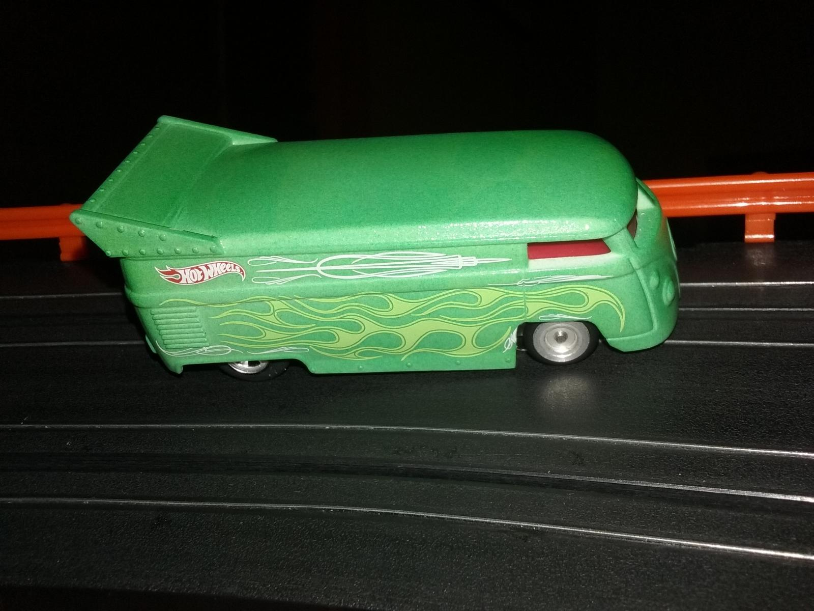 Modified Hot Wheels VW Drag Bus Slot Car Project