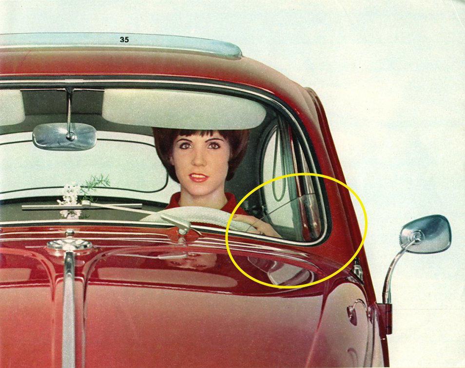 clear plastic deflector inside windshield