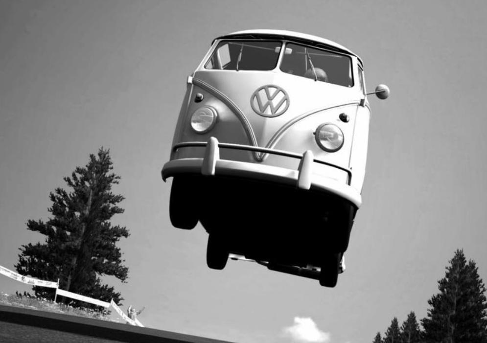 The flying Bus!