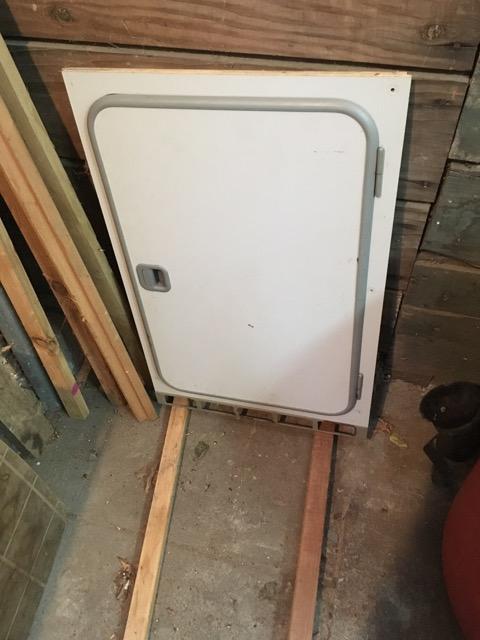 Fridge door cabinet work