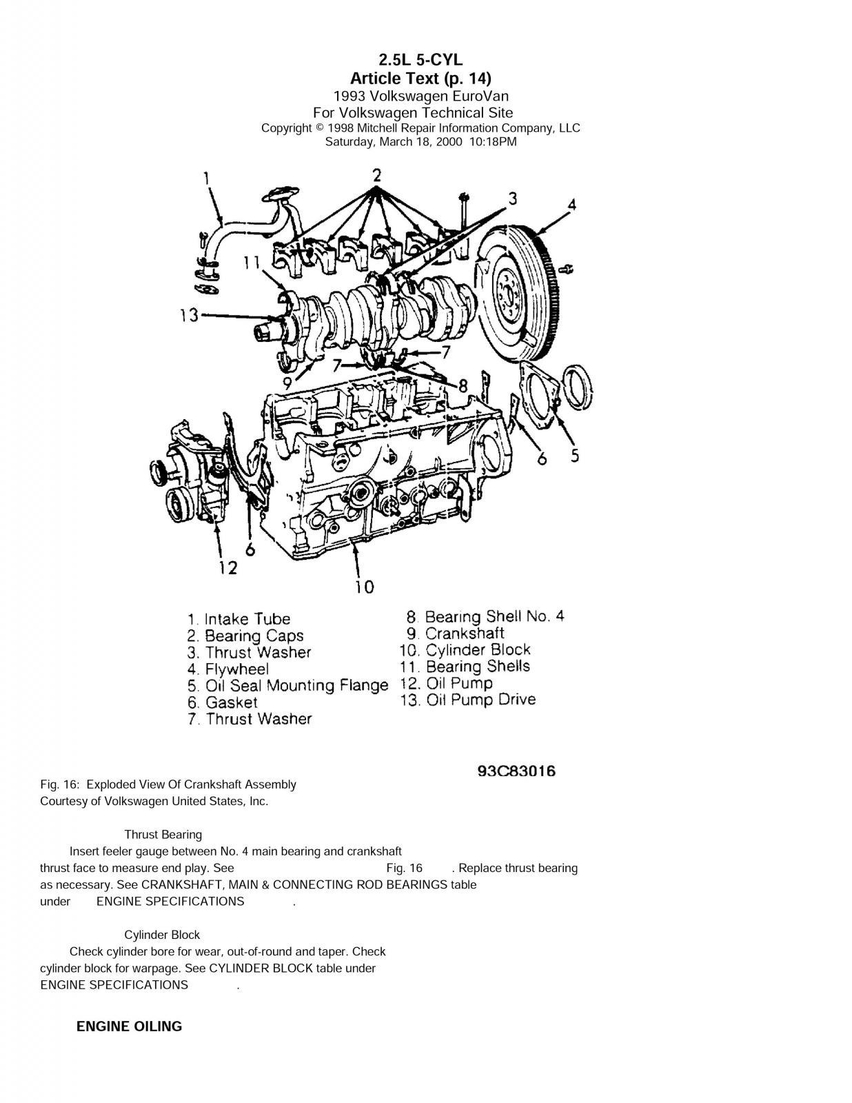 Eurovan 2.5l engine removal dissambly #2