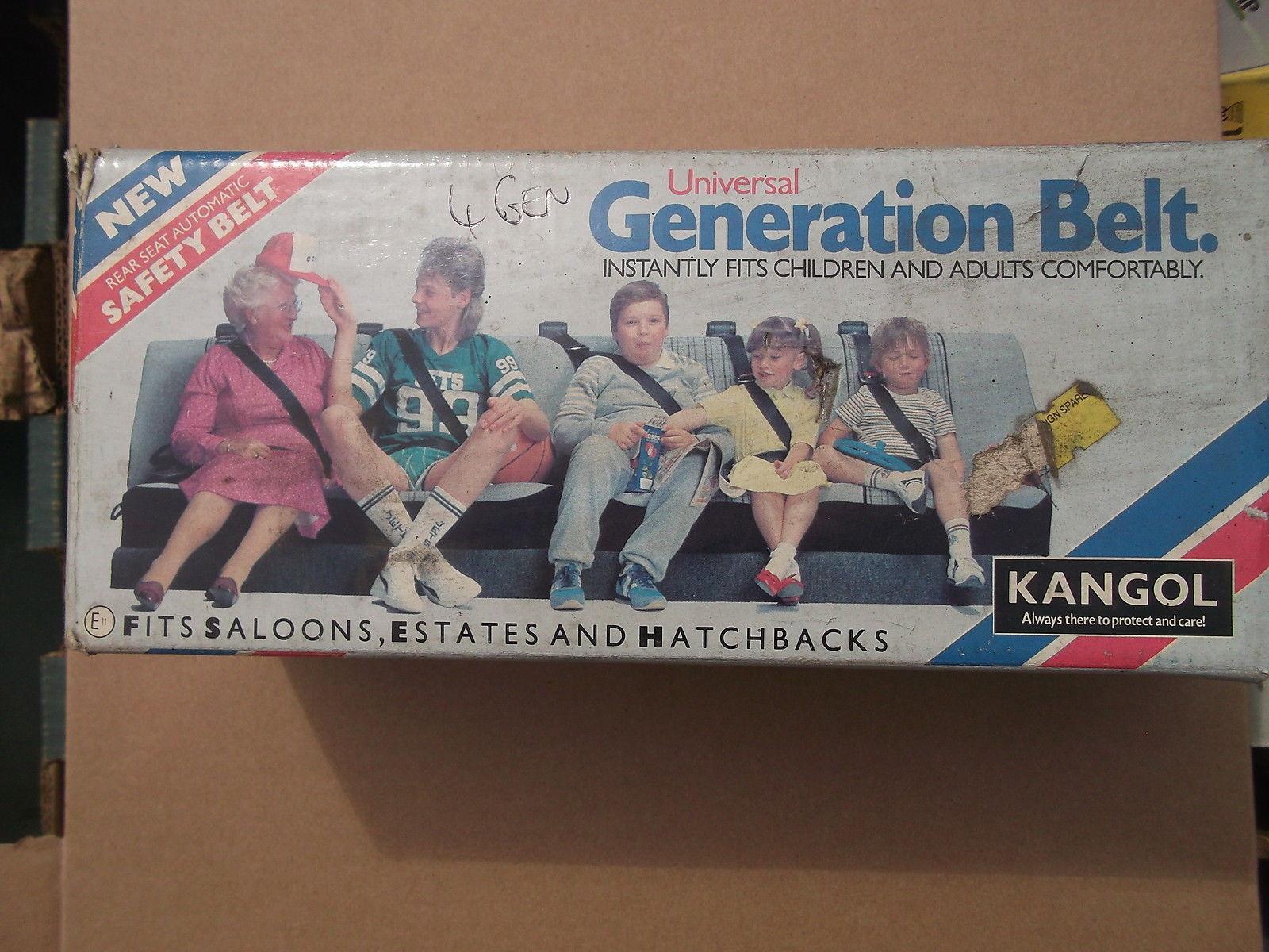 "Kangol ""Generation"" rear seat belt"