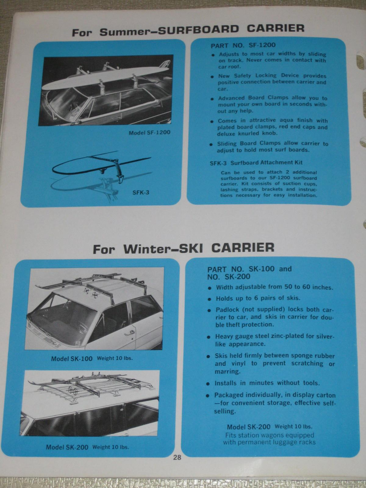 FOXCRAFT VW Accessories Catalog 1970