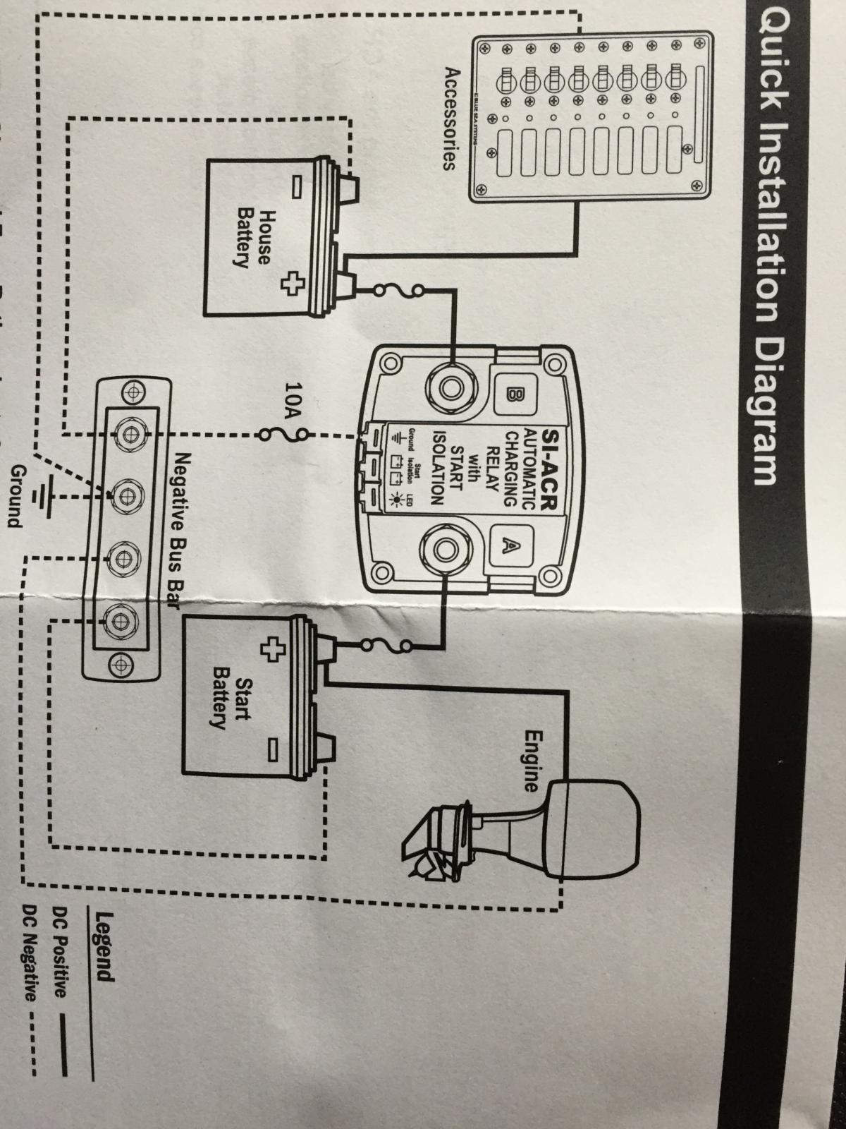 TheSambacom Gallery Blue Sea ACR Wiring Diagram - Blue sea acr wiring diagram