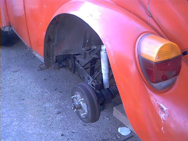 rear fender no wheel