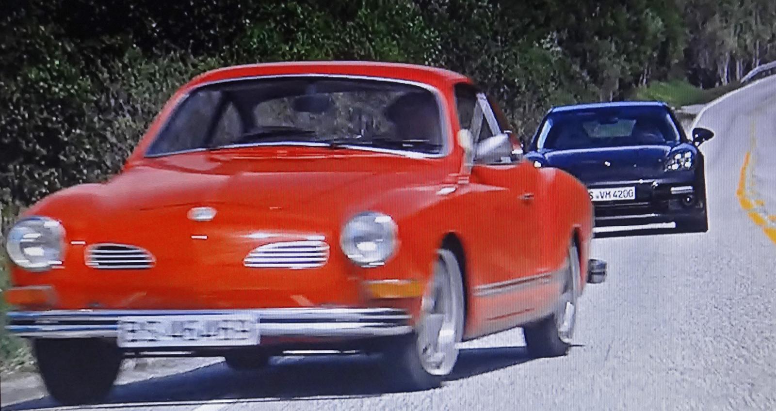 Karmann Ghia in Porsche Panamera TV ad
