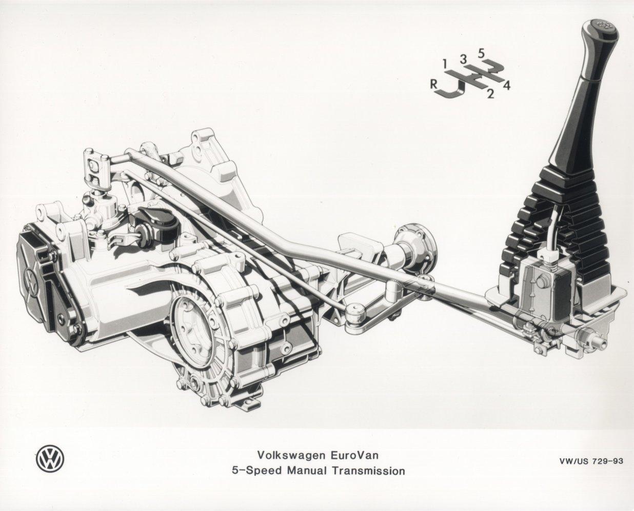 93 EV manual transmission graphic
