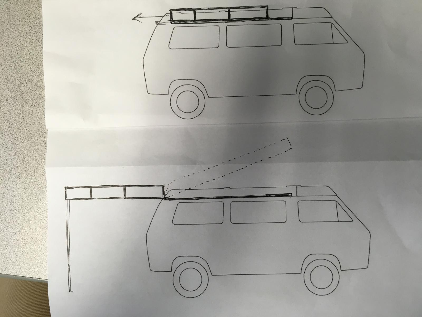 Roof rack for adding roof top tent to westy