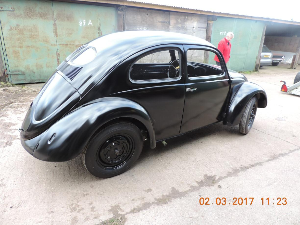 1946 Beetle fresh from the paint shop