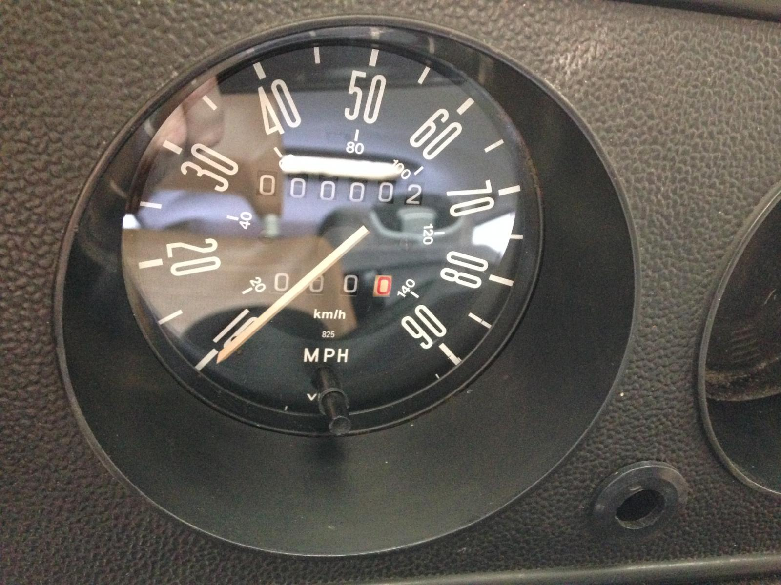 MPH speedometer with trip pdometer