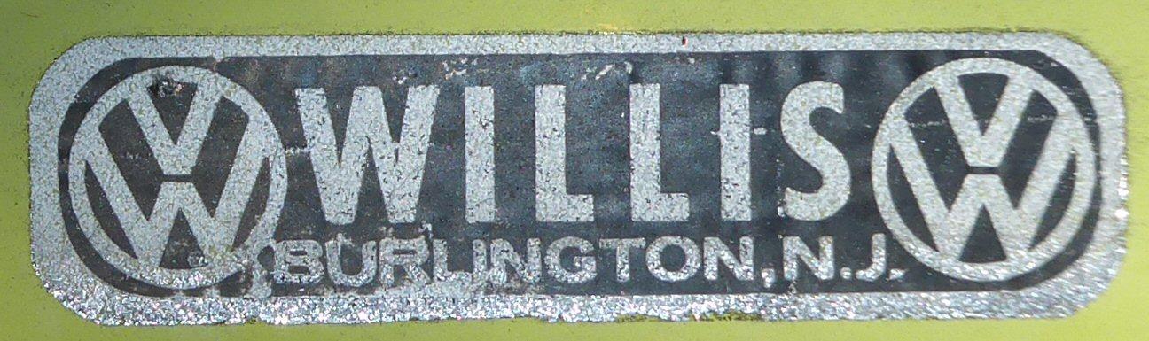willis dealer sticker