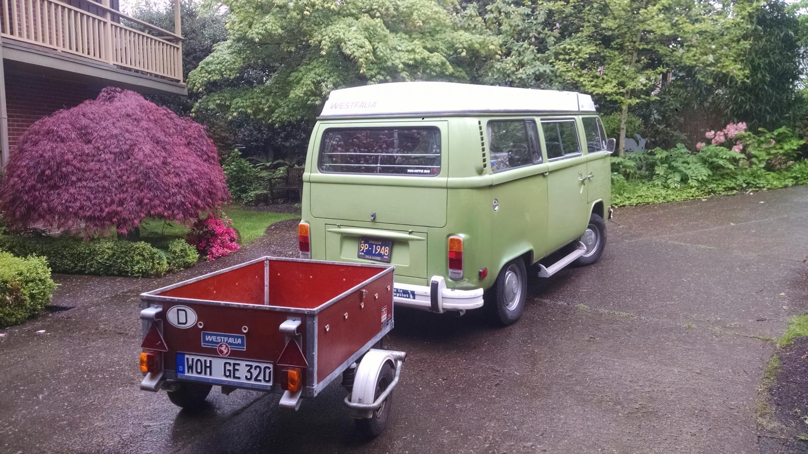 78 Westy with 77 trailer