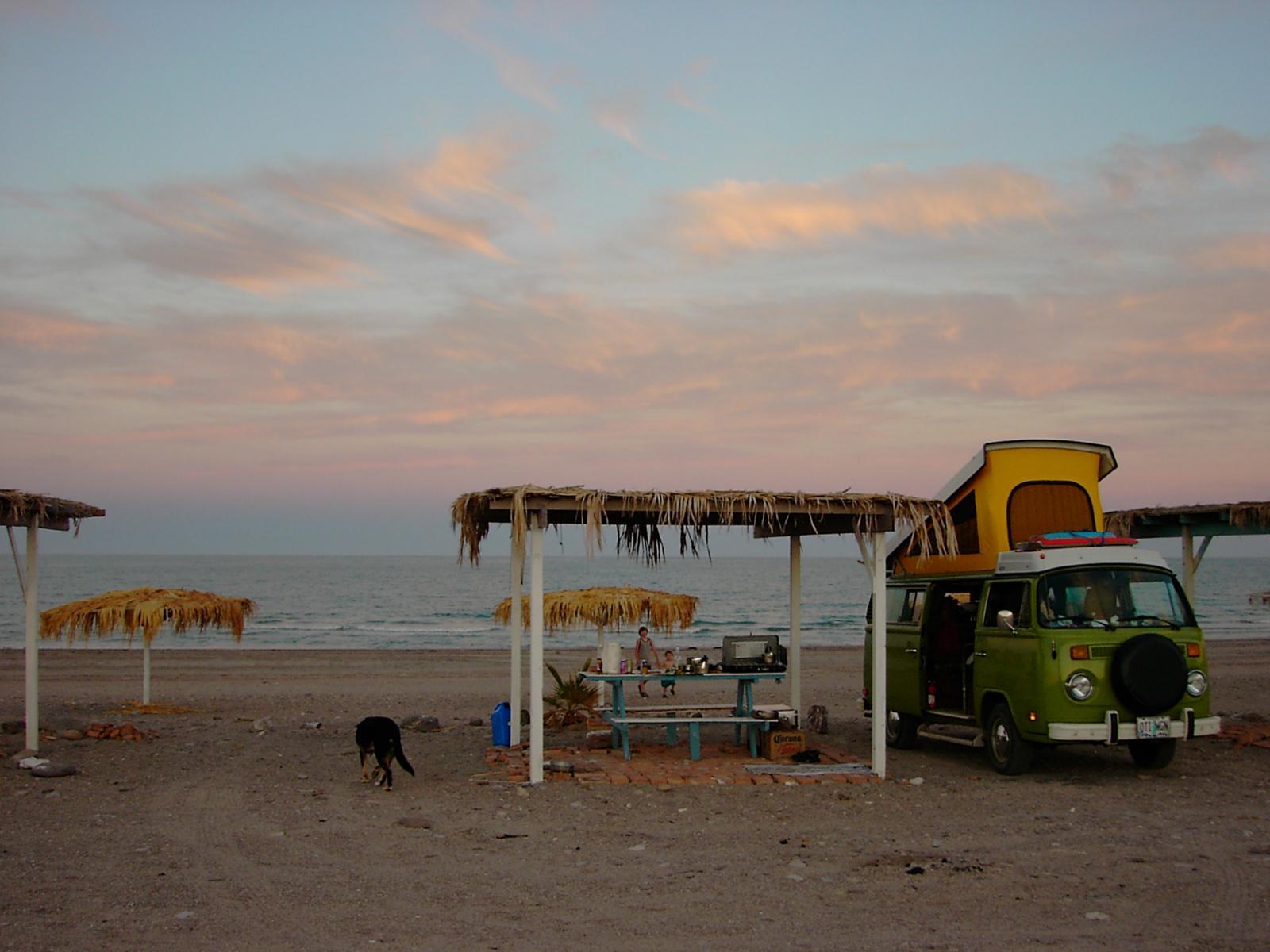 78 bus in Baja - vintage pics