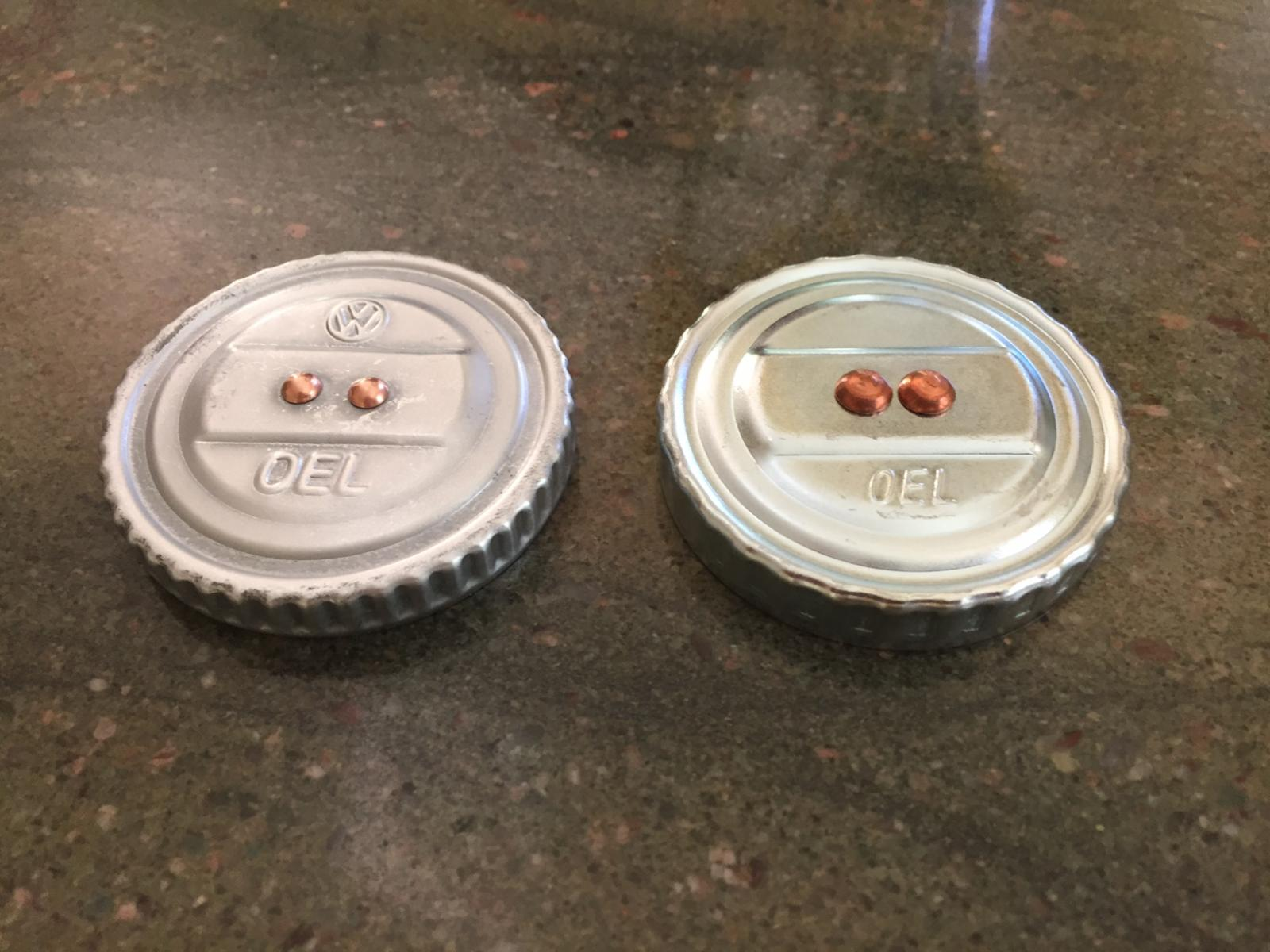NOS vs repro oil caps