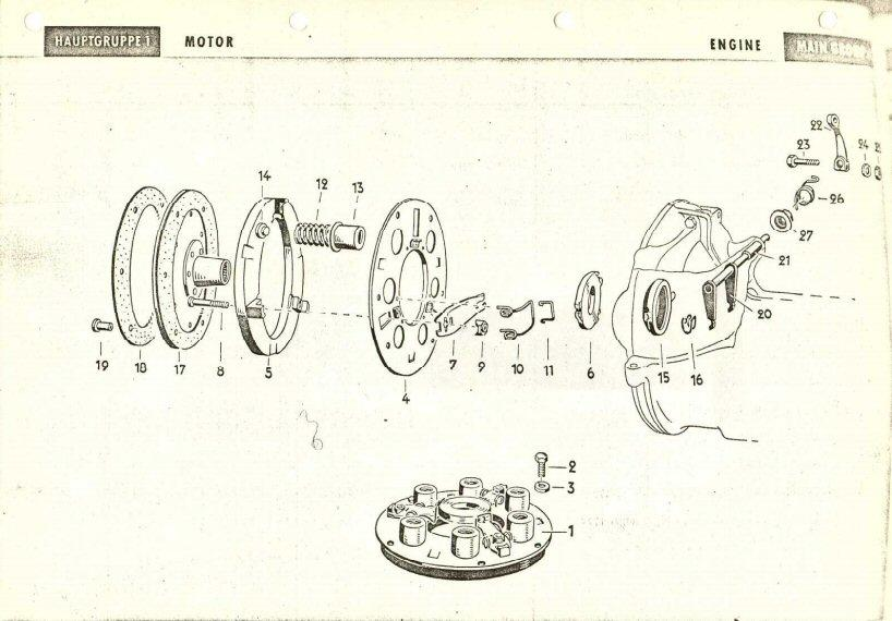 1952 parts book clutch illustration