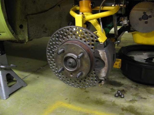 real holey brake rotor