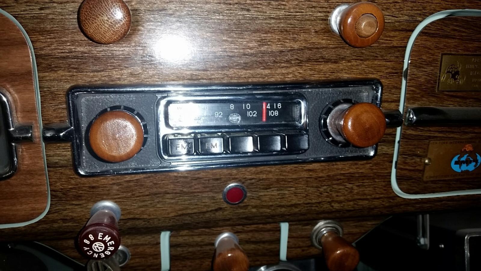Super rare 6volt Empi AM / FM radio in my 1966 Empi GTV