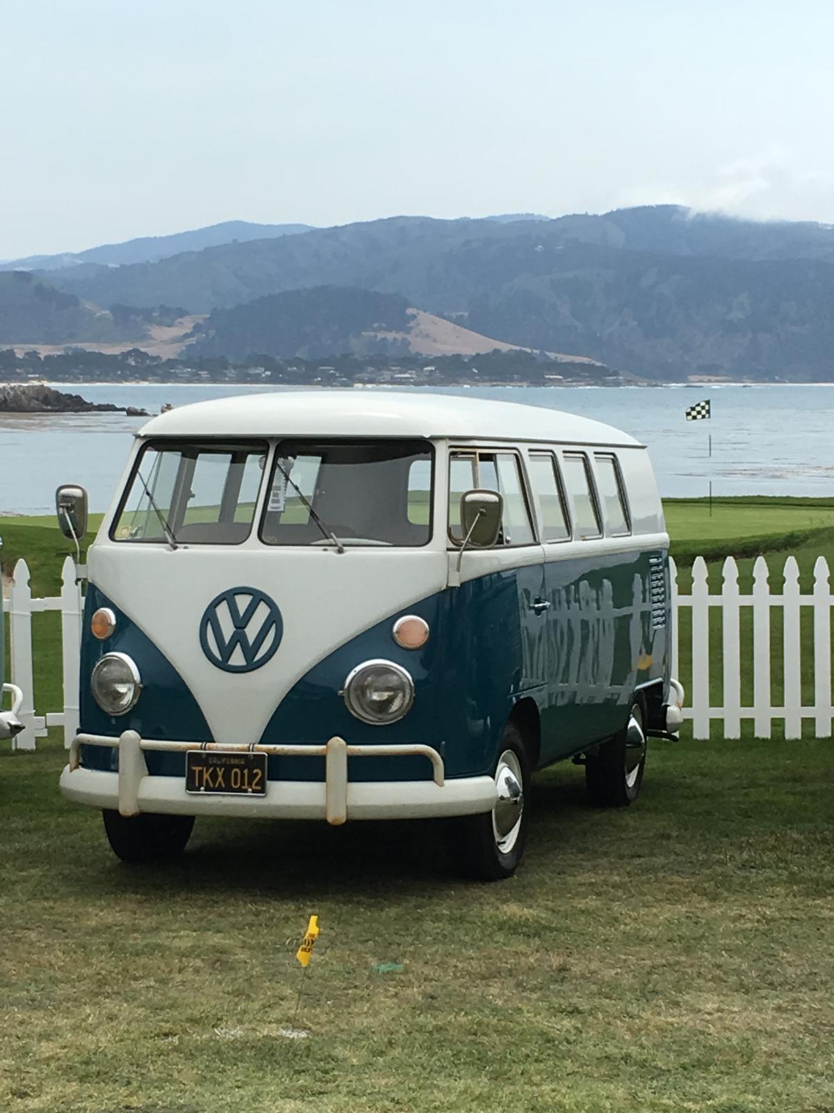 VWs on 18th hole Pebble Beach
