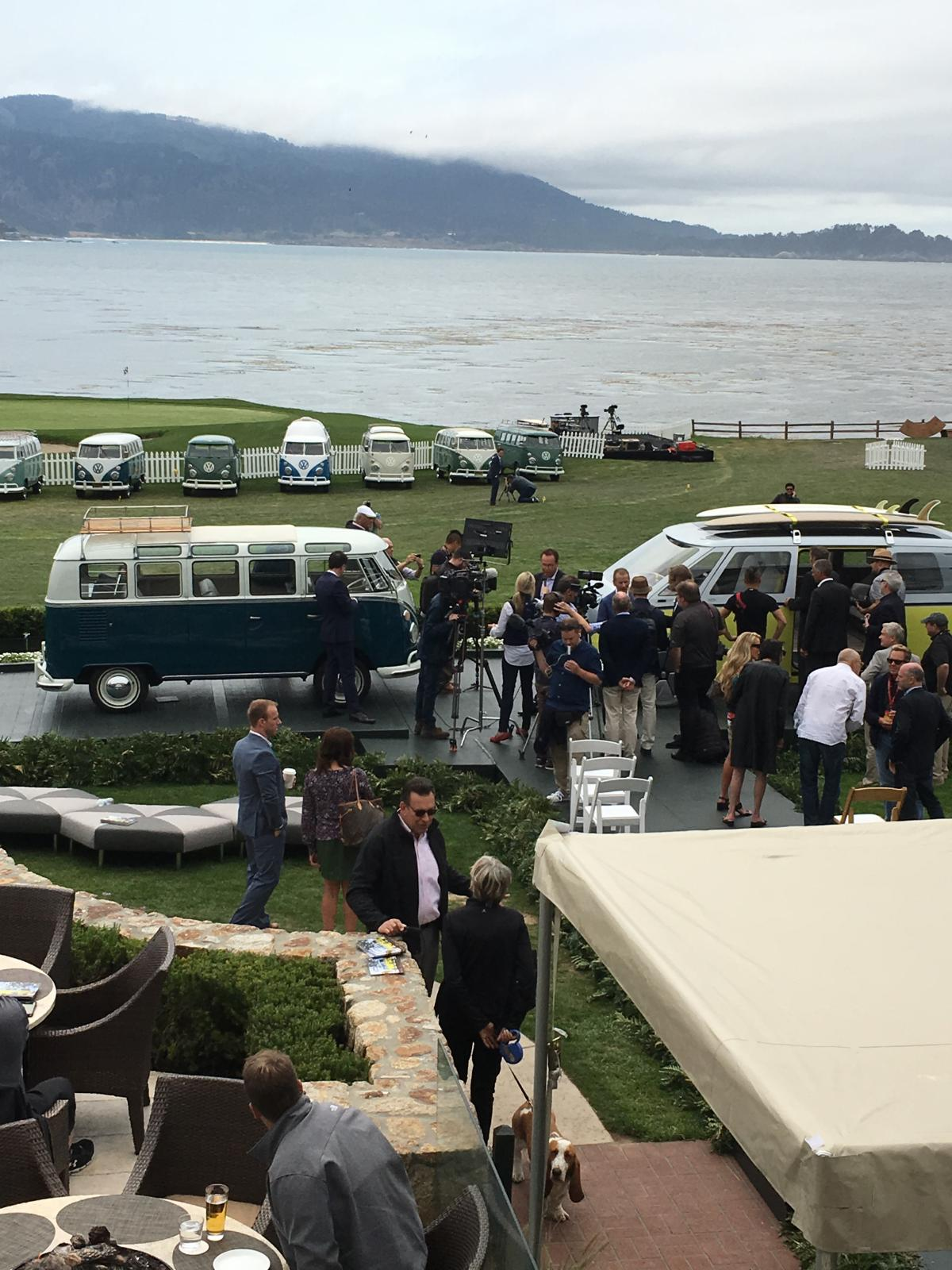 Overall shot @ VW press event Pebble Beach
