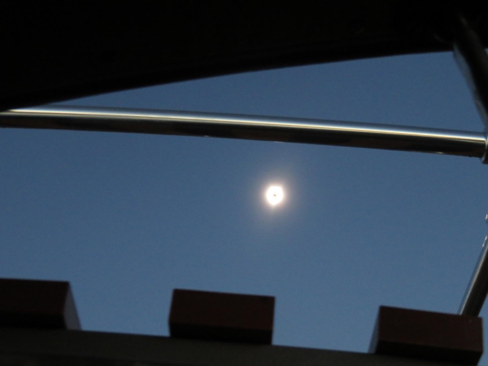 blurry eclipse photo