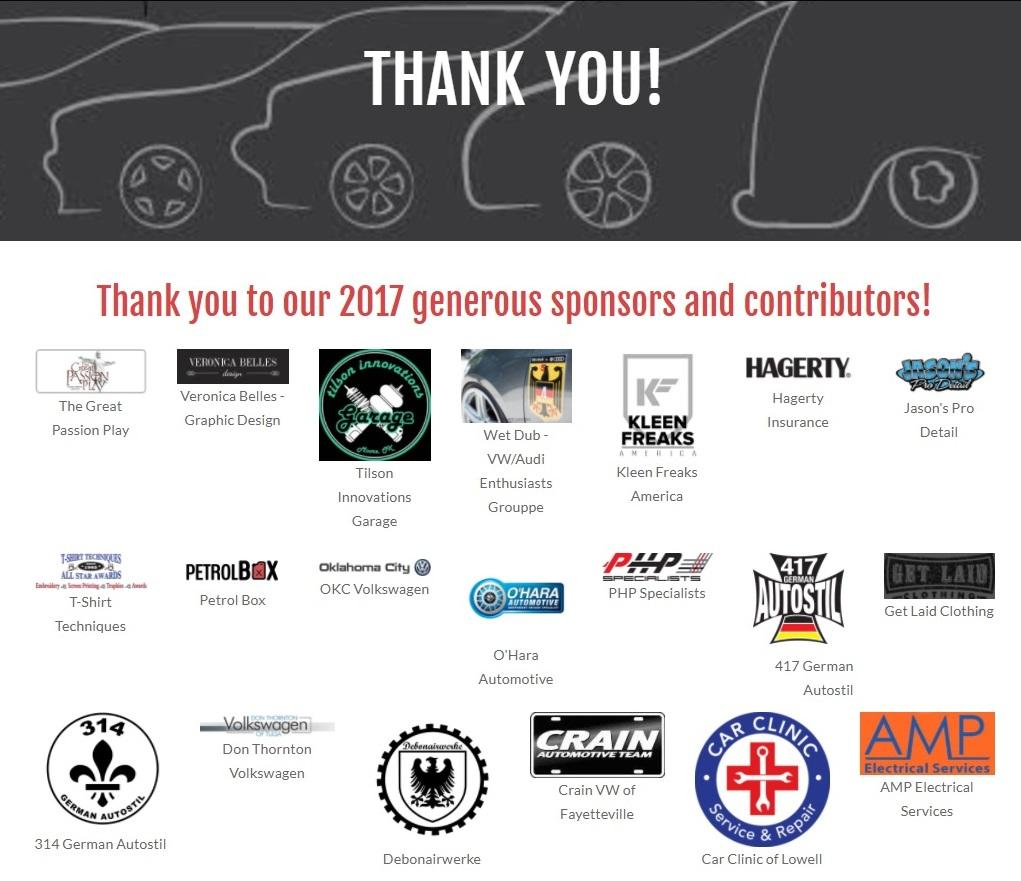 VW show sponsors