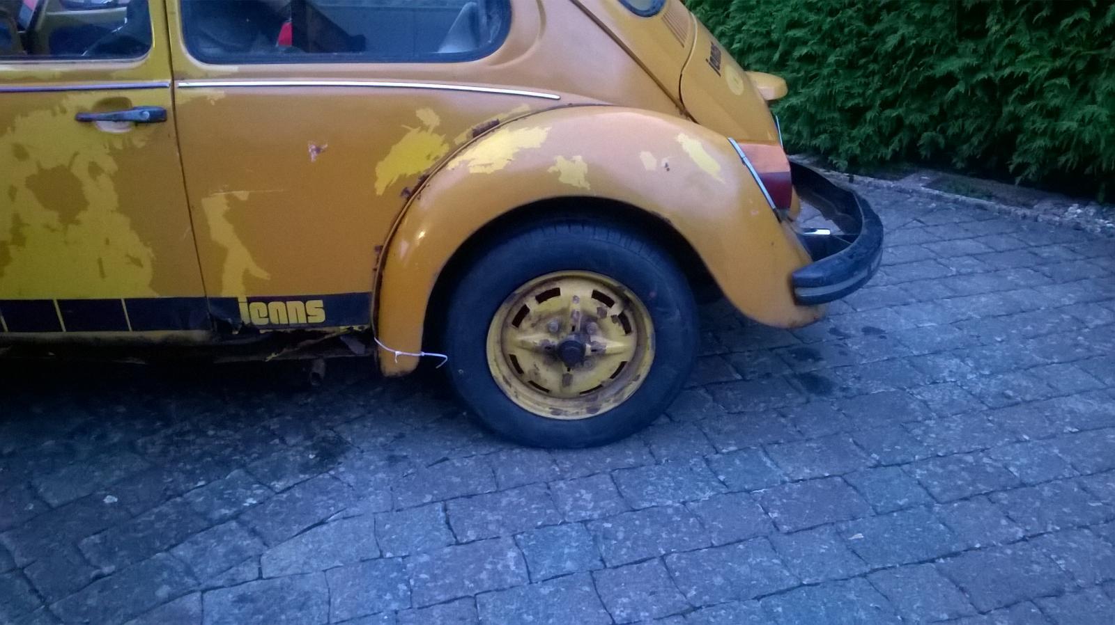 GT wheels back on my Jeans Beetle