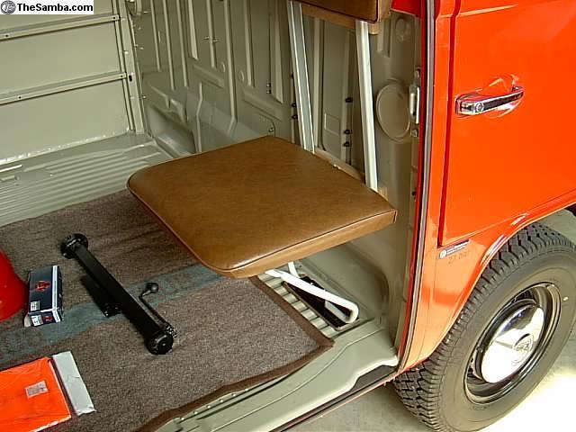 Baywindow fire van jump seat
