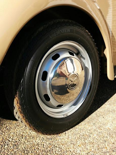 Vredestein tire  with X hubcap