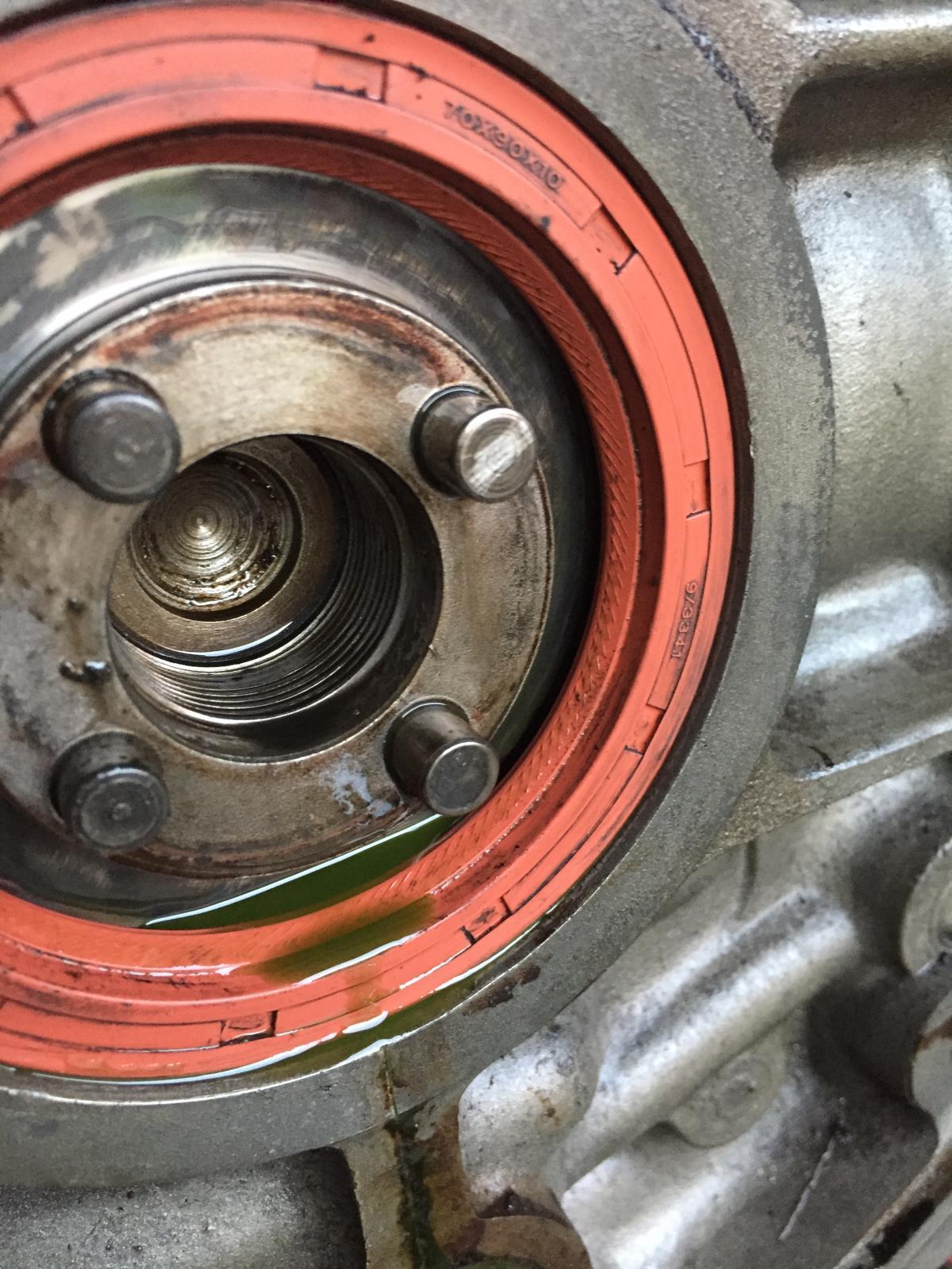 Leak at flywheel