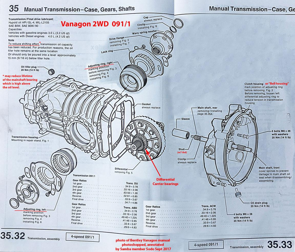Vanagon View Topic Re Adjust Differential Gear Schematic Image May Have Been Reduced In Size Click To Fullscreen