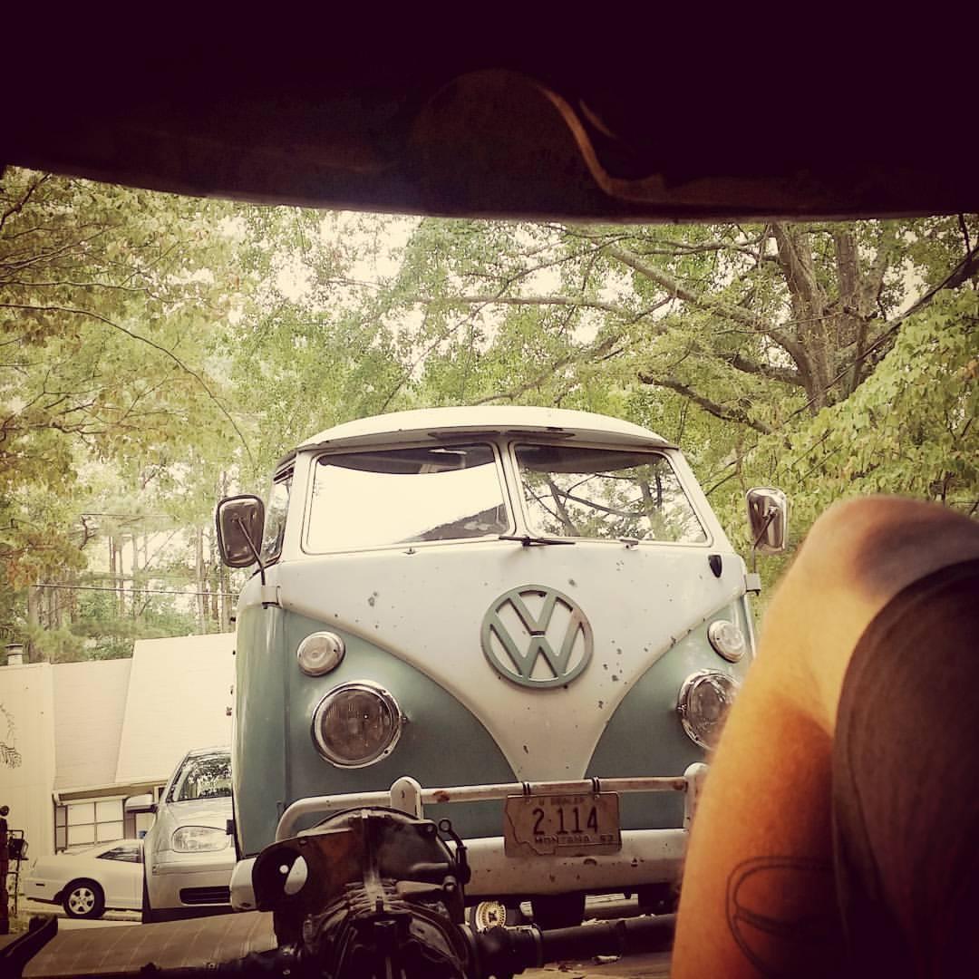 Working on my '59 Beetle, looking at my '63 Standard Microbus
