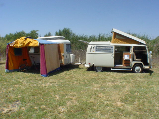 My original 1970 Westfalia bus with Eriba Familia