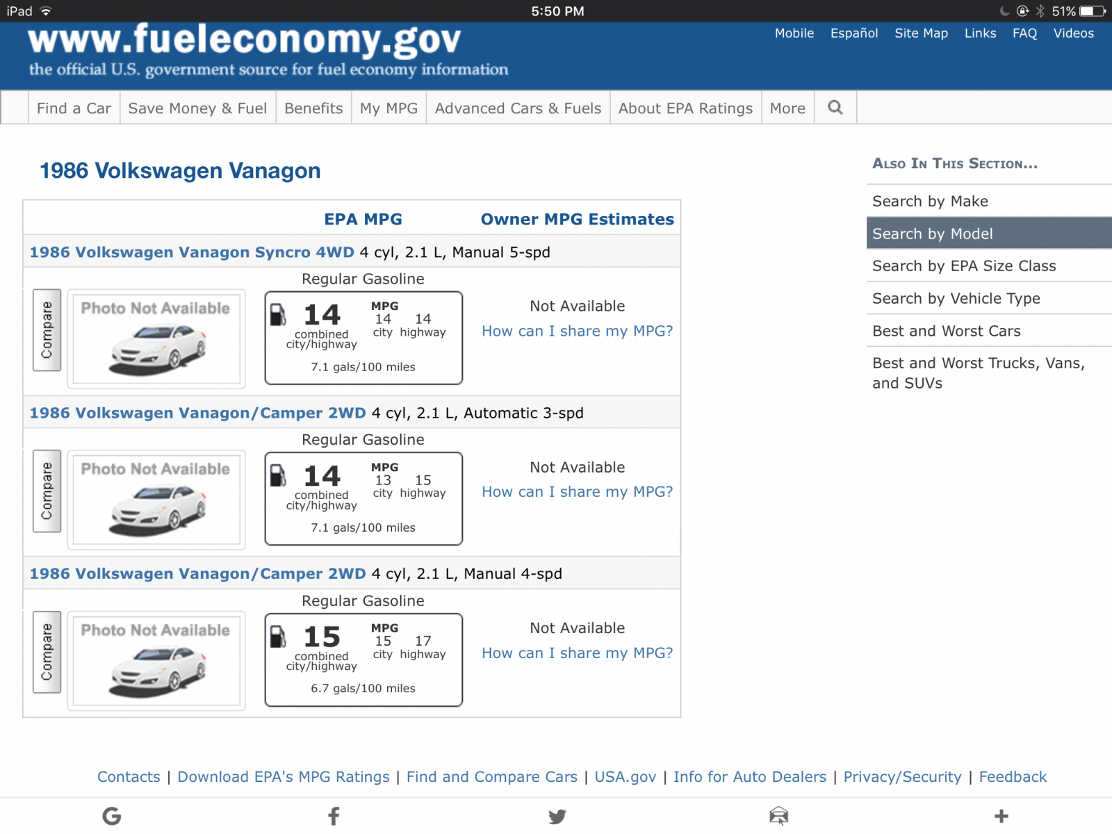 Thesambacom Vanagon View Topic Whats Your Gas Mileage