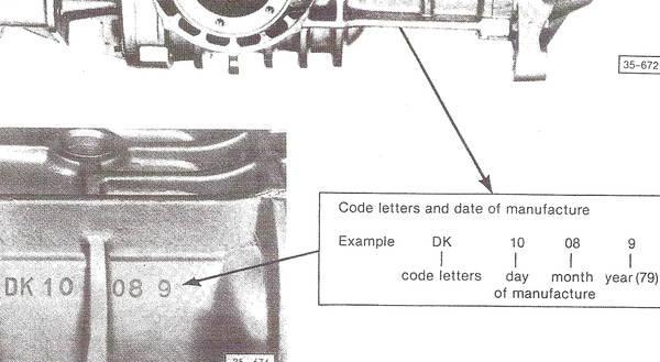 Vanagon transmission code location
