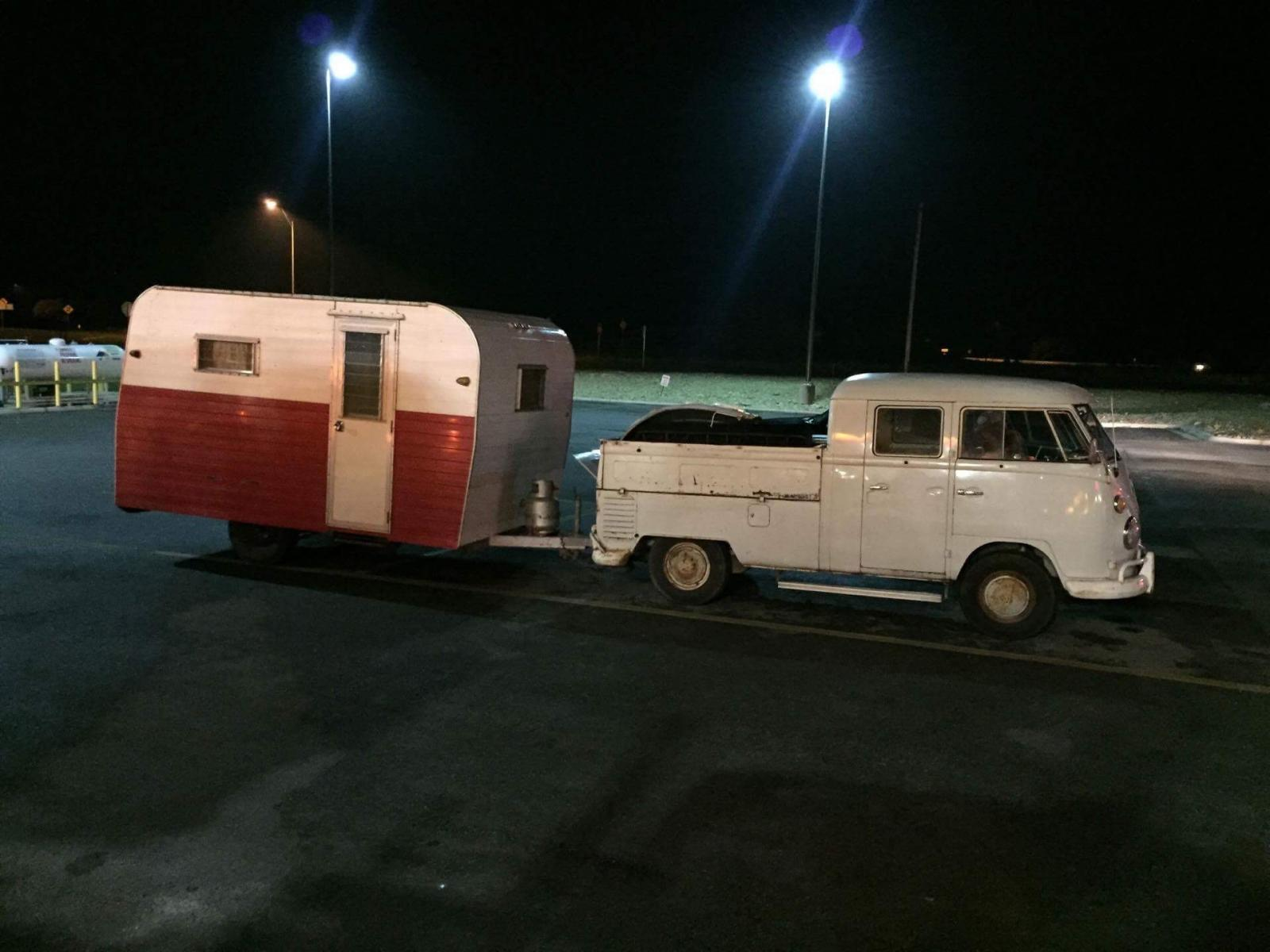 Double cab and camper