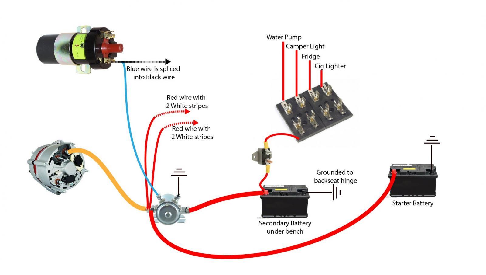 Vanagon Aux Battery Wiring Diagram | Wiring Schematic Diagram on 85 vanagon fuse diagram, vanagon westfalia, vanagon interior light wiring repair,