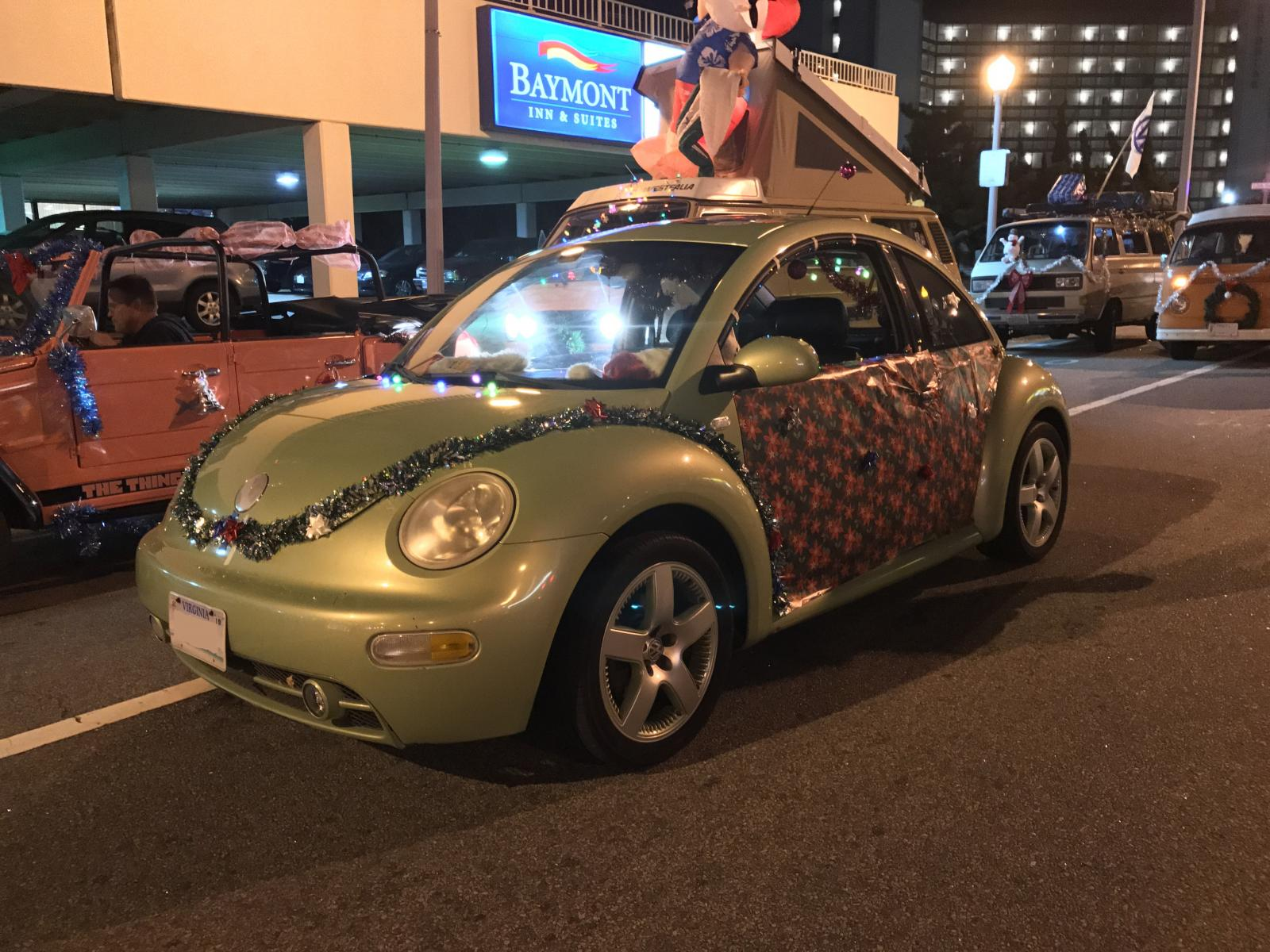 VW New Beetle Decorated for Parade