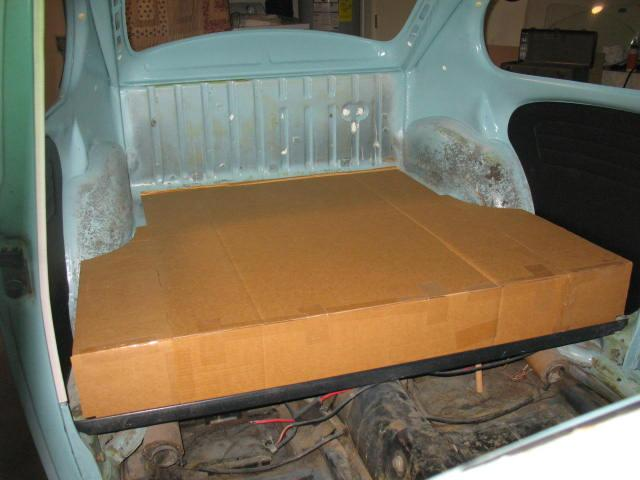 Storage area instead of rear seat,