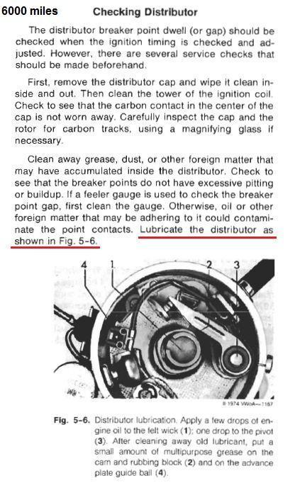 Distributor lubrication