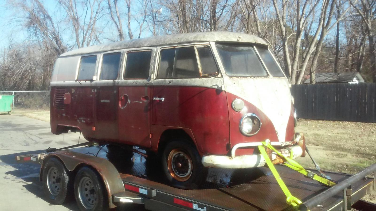 1966 titian red standard just pulled out of the trees