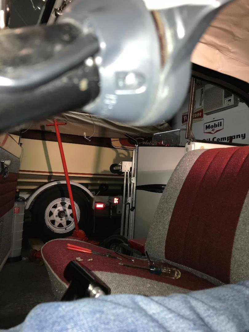 Bug steering column