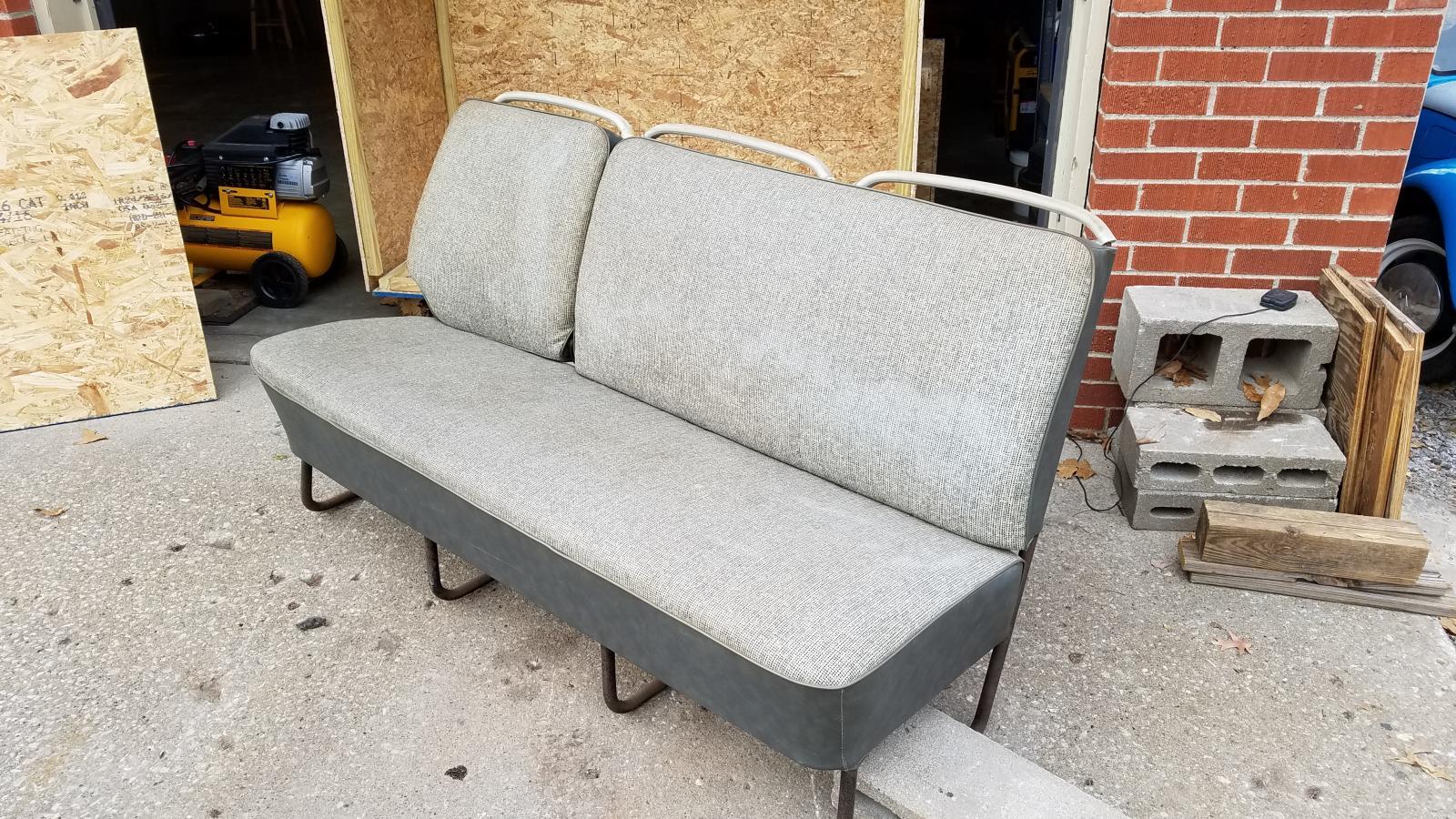 full width salt n pepper center seat original upholstery