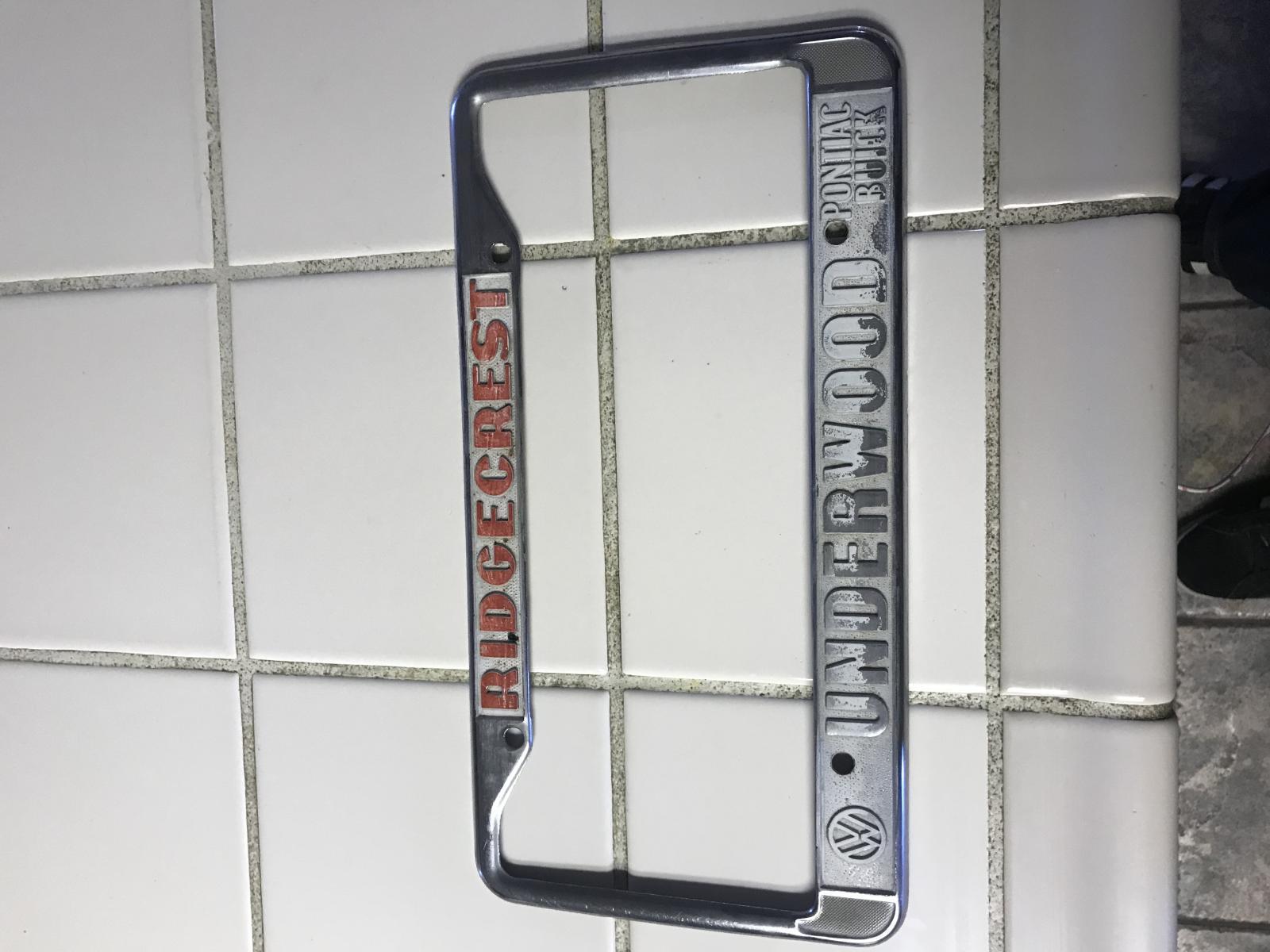 "Underwood,Ridgecrest California dealership frame ""rare"""