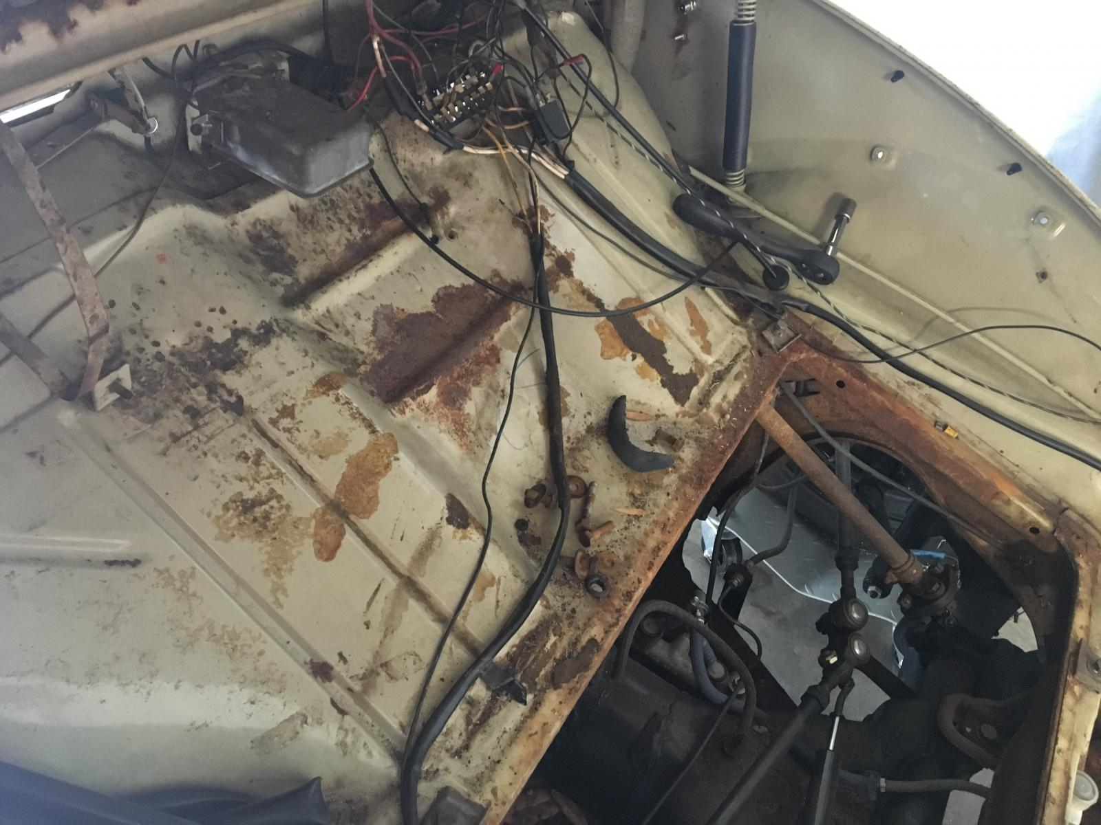 Gas tank removal