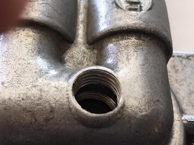 Oil Temp Sender - Oil Filter Bracket